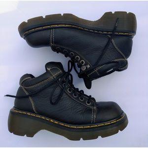 Doc Dr Martens US Size 8 Black Leather Boots 8542